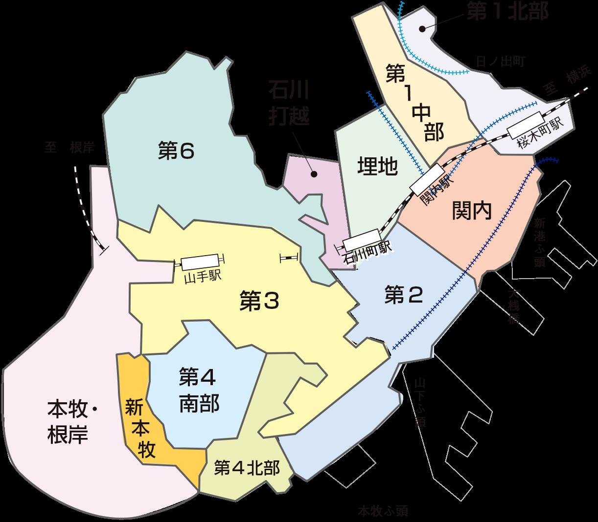 中区自治会町内会マップ